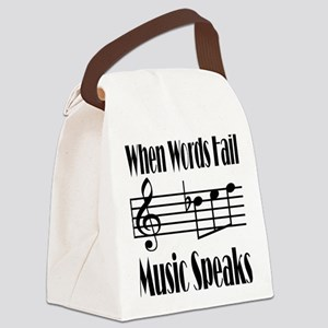 Music Speaks Canvas Lunch Bag