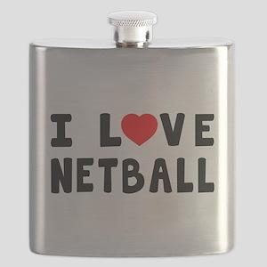 I Love Netball Flask