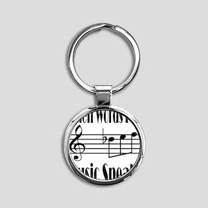 Music Speaks Round Keychain