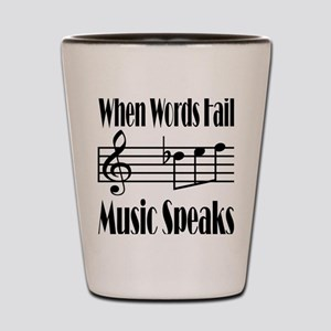 Music Speaks Shot Glass