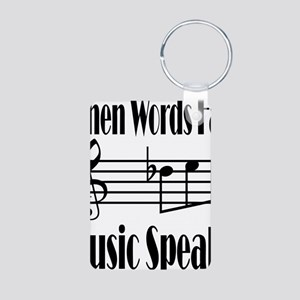 Music Speaks Aluminum Photo Keychain