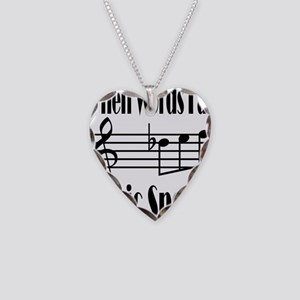 Music Speaks Necklace Heart Charm