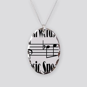 Music Speaks Necklace Oval Charm