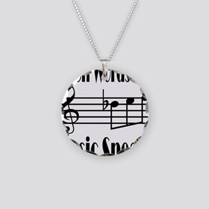 Music Speaks Necklace Circle Charm
