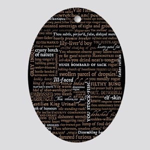 Shakespeare Quotes Oval Ornament