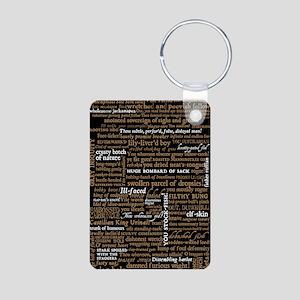 Shakespeare Quotes Aluminum Photo Keychain