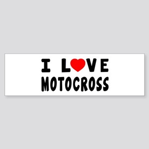 I Love Motocross Sticker (Bumper)