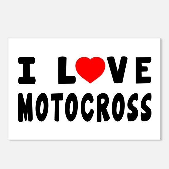 I Love Motocross Postcards (Package of 8)