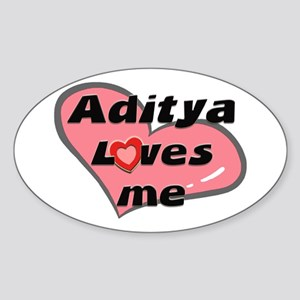 aditya loves me Oval Sticker