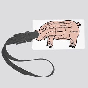 pig-cuts2-T Large Luggage Tag