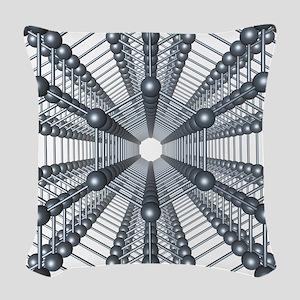 Graphene sheets, artwork Woven Throw Pillow