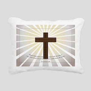 Proverbs 3:24 KJV Rectangular Canvas Pillow
