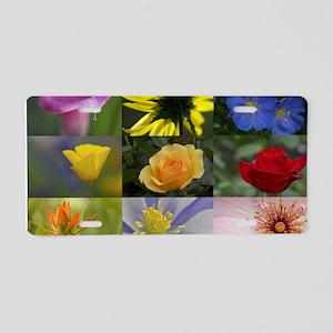 Flower Collage Aluminum License Plate