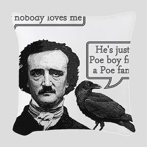 Poe Boy Woven Throw Pillow