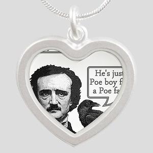 Poe Boy Silver Heart Necklace