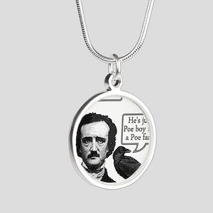 Poe Boy Silver Round Necklace