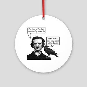 Poe Boy Round Ornament