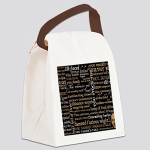 ShakespeareQuotes Canvas Lunch Bag