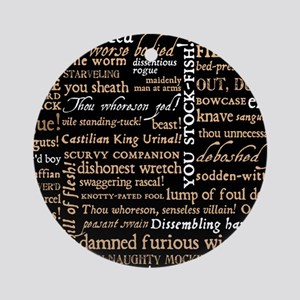 ShakespeareQuotes Round Ornament