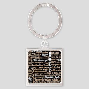 ShakespeareQuotes Square Keychain