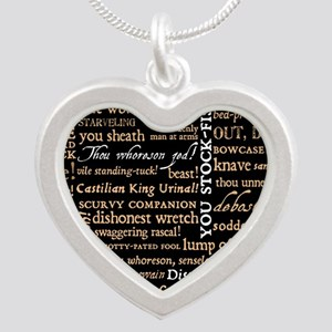 ShakespeareQuotes Silver Heart Necklace