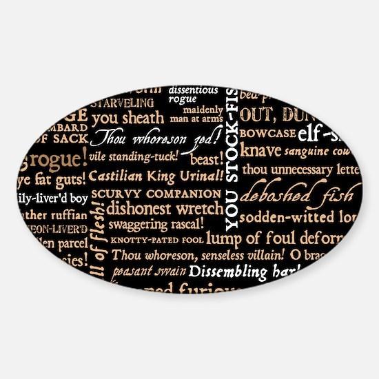 ShakespeareQuotes Sticker (Oval)