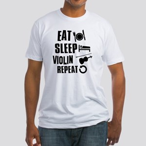 Eat Sleep Violin Fitted T-Shirt