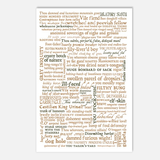 Shakespeare Quotes Postcards (Package of 8)