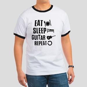 Eat Sleep Guitar Ringer T