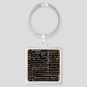 Shakespeare Quotes Square Keychain