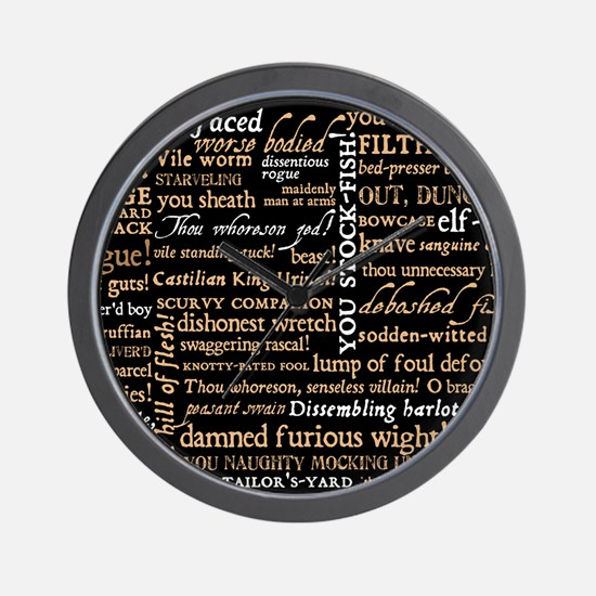 Shakespeare Quotes Wall Clock