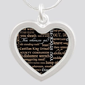 Shakespeare Quotes Silver Heart Necklace