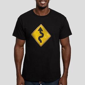 to hana sign Men's Fitted T-Shirt (dark)