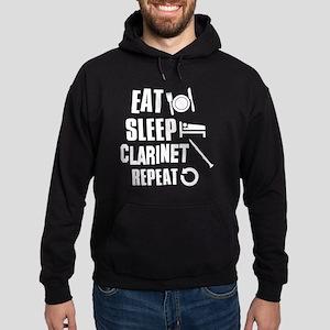 Eat Sleep Clarinet Hoodie (dark)