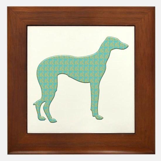 Paisley Sloughi Framed Tile