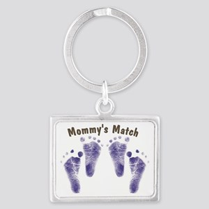 Mommys Match - Twin Boys Landscape Keychain