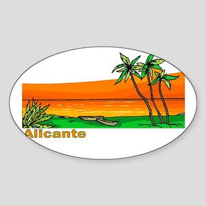 Alicante, Spain Oval Sticker