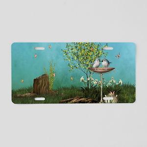 sf_Rectangular Canvas Pillo Aluminum License Plate