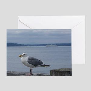 Sea Gull In Seattle Greeting Card