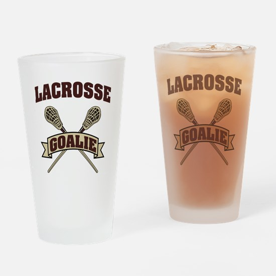 Lacrosse Goalie Drinking Glass