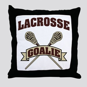 Lacrosse Goalie Throw Pillow
