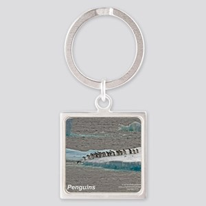Penguins Square Keychain