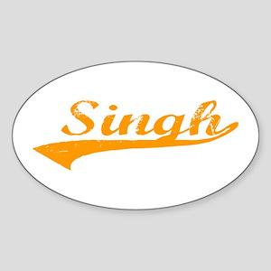 Singh Oval Sticker