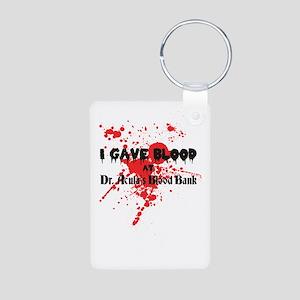 Blood Donor Aluminum Photo Keychain