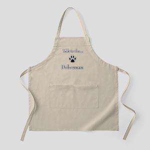 Doberman Talk BBQ Apron