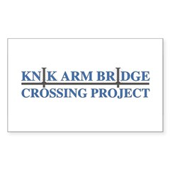Knik River Bridge Rectangle Decal