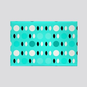 Cool Turquoise Shapes Design Rectangle Magnet