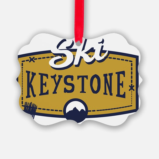 Ski Keystone Patch Ornament