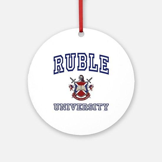 RUBLE University Ornament (Round)