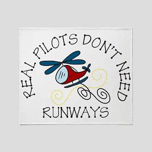 Real Pilots Throw Blanket